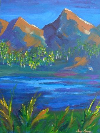 Aspen Grove acrylic painting