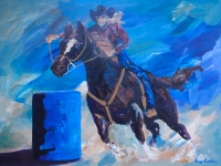 Barrel Racing - blast off