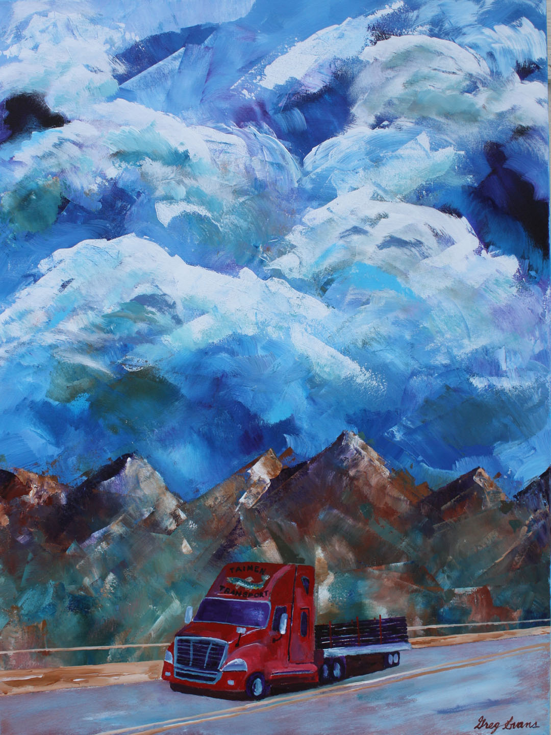 Big Truck Videos >> Oil and Gas Art Paintings | Art Gallery of Greg Evans