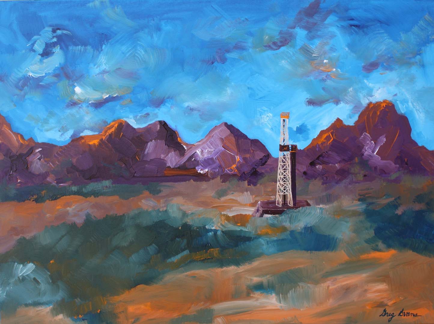 Watercolor art galleries in houston - Mountain And Meadow 3 22