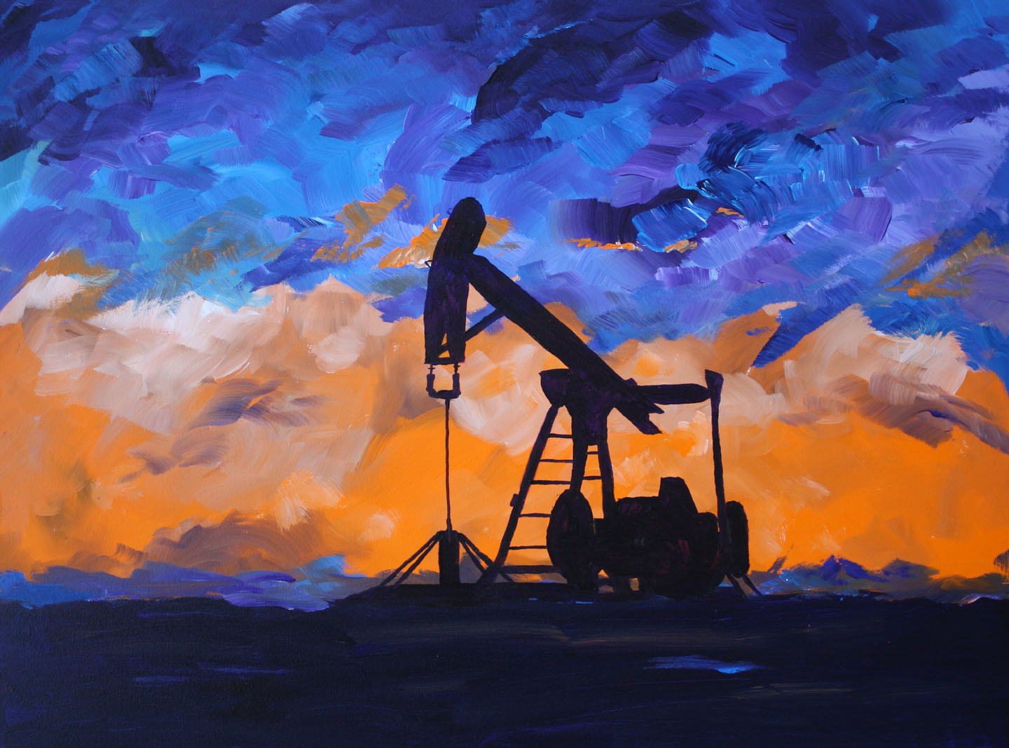 Oil And Gas Well Painting