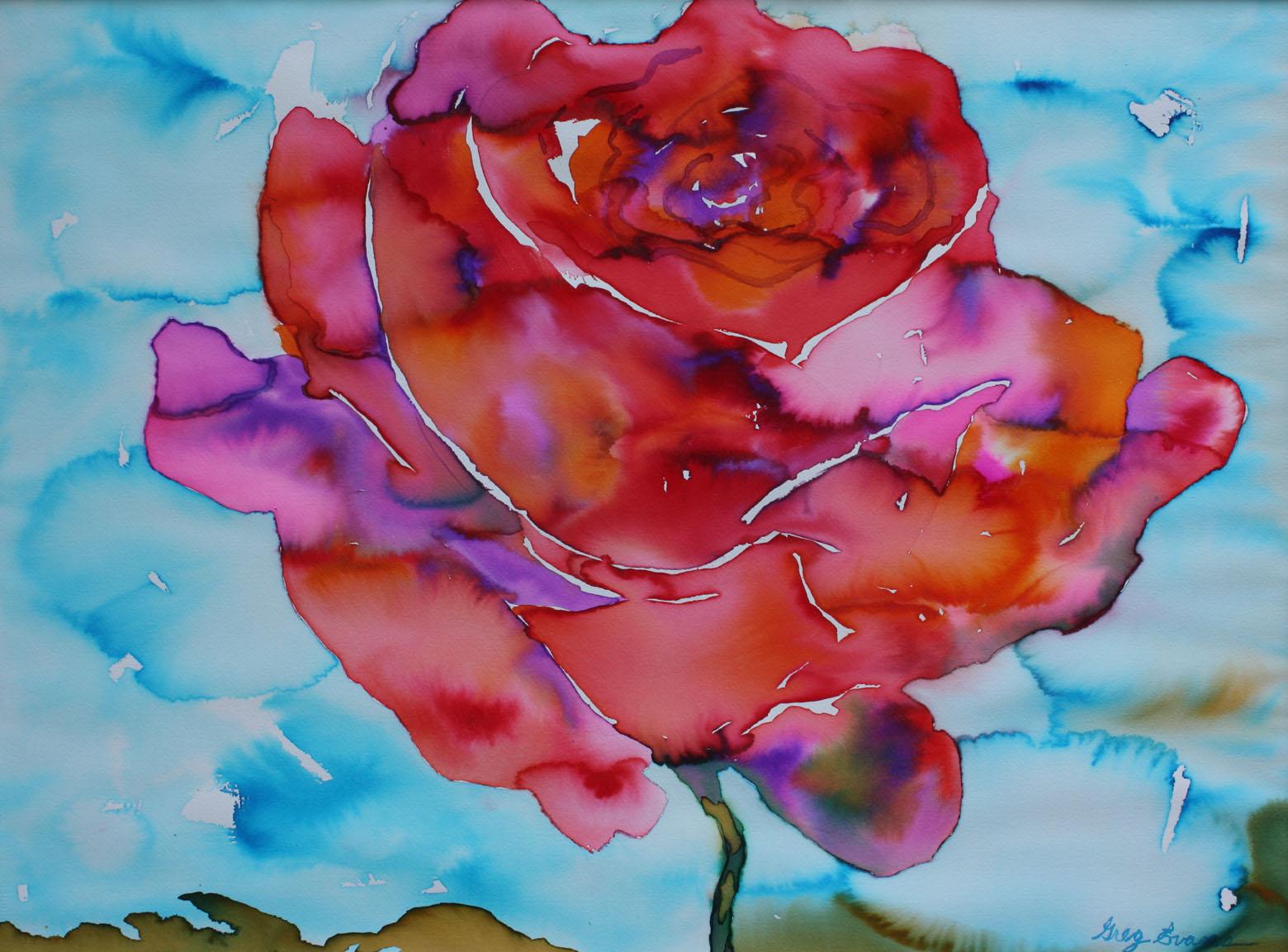 watercolor flowers paintings art gallery of greg evans